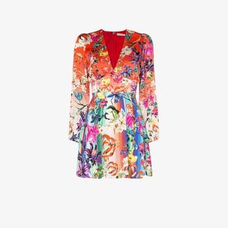 Mary Katrantzou Bloom Floral Print Silk Mini Dress