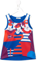 Junior Gaultier printed tank top - kids - Polyester/Spandex/Elastane/Viscose - 12 yrs