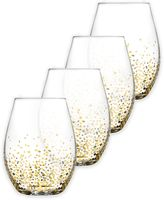 Fitz & Floyd Luster Stemless Wine Glasses in Gold (Set of 4)