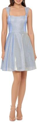 Xscape Evenings Glitter Double Strap Party Dress