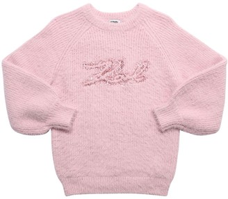 Karl Lagerfeld Paris Sequined Logo Knit Sweater