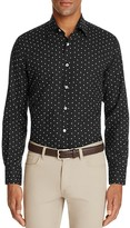 Canali Floral Print Woven Classic Fit Button Down Shirt