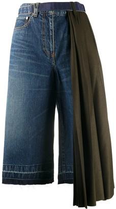 Sacai Draped Side Knee-Length Shorts