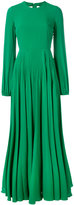 No.21 pleated skirt long dress - women - Silk/Acetate - 38