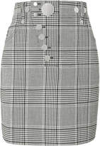 Alexander Wang High-Waisted Plaid Mini Skirt