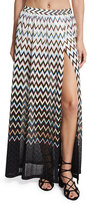 Missoni Mare Zigzag Ombre Beach Maxi Skirt, Black