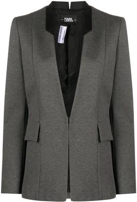 Karl Lagerfeld Paris Punto satin lapel jacket
