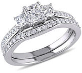 Concerto 14K White Gold 3-Stone 1.25 TCW Diamond Bridal Set
