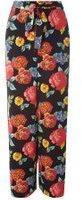 Dorothy Perkins Womens Black Bloom Print Tie Palazzo Trousers- Black