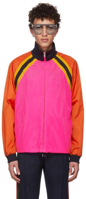 Gucci Pink Colorblock Windbreaker Jacket