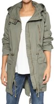 TheMogan Women's Military Drawstring Hooded Anorak Jacket 1XL