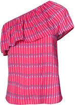 Vanessa Seward striped one shoulder top