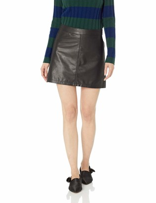 Cupcakes And Cashmere Women's marrie high Waist Real Leather Mini Skirt