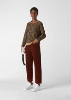Flocked Leopard Sweatshirt