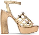 Ernesto Esposito 125MM CAGE METALLIC LEATHER SANDALS