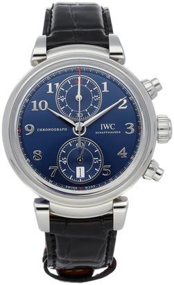 "IWC Blue Stainless Steel Da Vinci Chronograph Limited Edition IW3934-02"" Men's Wristwatch 42 MM"