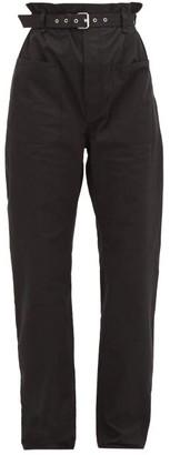 Isabel Marant Kelinny Paperbag-waist Cotton Trousers - Black