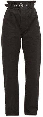 Isabel Marant Kelinny Paperbag-waist Cotton Trousers - Womens - Black
