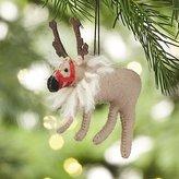 Crate & Barrel Dancer the Reindeer Felt Ornament
