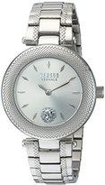 Versus By Versace Women's 'BRICK LANE' Quartz Stainless Steel Casual Watch, Color:Silver-Toned (Model: S71010016)
