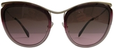Miu Miu Burgundy Plastic Sunglasses
