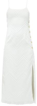 Marine Serre Chain-embellished Upcycled-cotton Dress - White