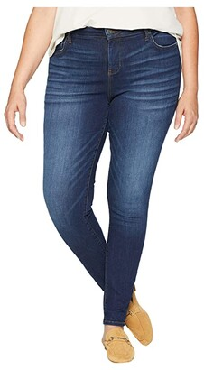 KUT from the Kloth Plus Size Mia High-Waist Skinny Jeans in Goodly (Goodly/Dark Stone Base Wash) Women's Jeans