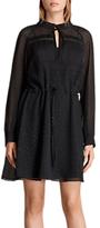 AllSaints Veda Shimmer Dress, Black