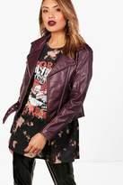 boohoo Elizabeth Leather Biker Jacket