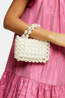 Topshop GOAL White Pearl Grab Bag