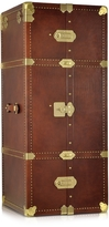 The Bridge Dark Brown Leather Wardrobe Trunk