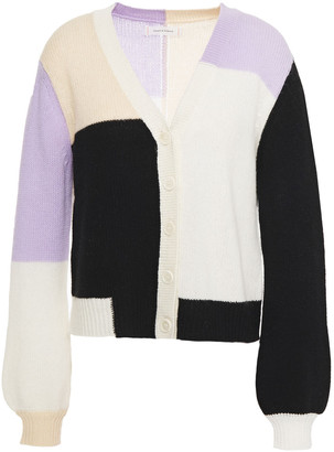 Chinti and Parker Color-block Wool And Cashmere-blend Cardigan