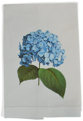 Hydrangea Guest Towel - White - The French Bee