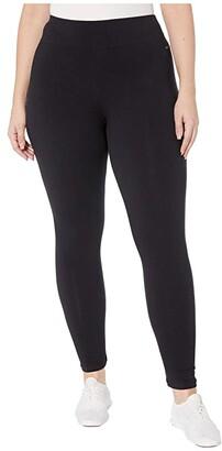Jockey Active Plus Size Slim Bootleg (Deep Black) Women's Casual Pants
