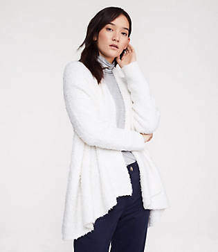 Lou & Grey Boucle Open Cardigan