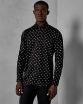 GREENPA Planet print cotton shirt
