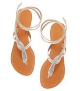 Aspiga Cobra Flat Silver Sandal
