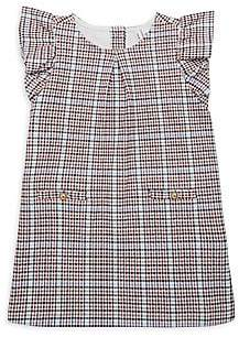 Janie and Jack Little Girl's & Girl's Ruffle-Sleeve Cotton Plaid Dress