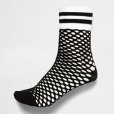 River Island Womens Black sporty fishnet socks