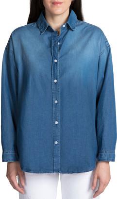 PRPS Washed Denim Button-Up Shirt