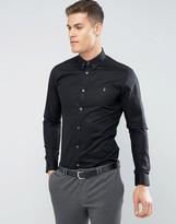 Farah Slim Smart Shirt With Collar Bar
