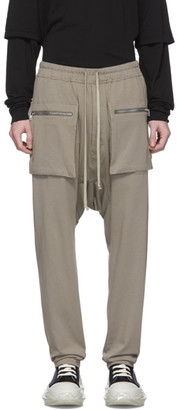 Rick Owens Grey Drawstring Cargo Pants