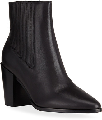 Rag & Bone Rover Pleated Leather High Ankle Boots