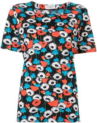Yves Saint Laurent Pre Owned Floral Short-Sleeved Blouse