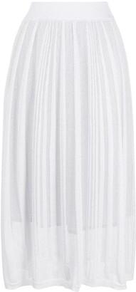 Fabiana Filippi Woven Striped Midi Skirt