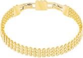 Swarovski Fit Bracelet, Brown, Gold plating