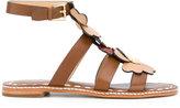 MICHAEL Michael Kors flower appliqué sandals - women - Leather/rubber - 8.5