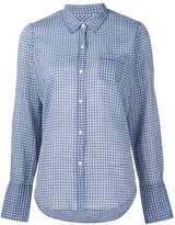 Nili Lotan chest pocket checked shirt