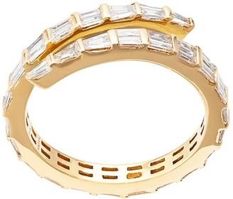 Anita Ko 18kt Yellow Gold Two Row Diamond Coil Ring