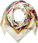 Tory Burch Dancers Silk Square Scarf Scarves